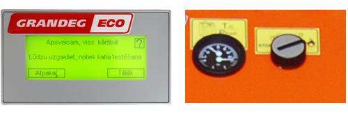 сенсорный дисплей котлов на гранулах  серии ЕСО