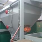 Датчики топлива и мешатель в бункере пеллет